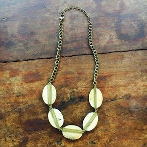 Anthropologie Wood and Chain Necklace